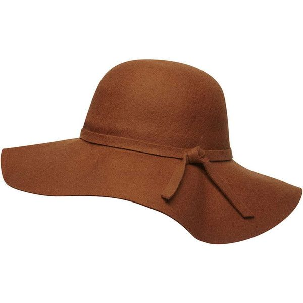 Dorothy Perkins Tan felt floppy hat ( 19) ❤ liked on Polyvore featuring  accessories 1e5fbd7dec5