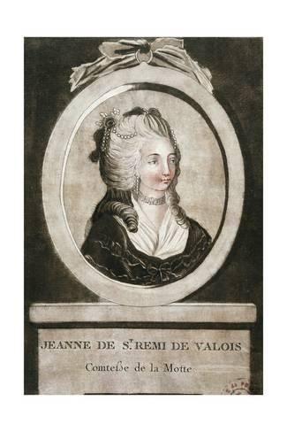Giclee Print Portrait Of Jeanne De Valois Countess De La Motte 24x16in Art Portrait