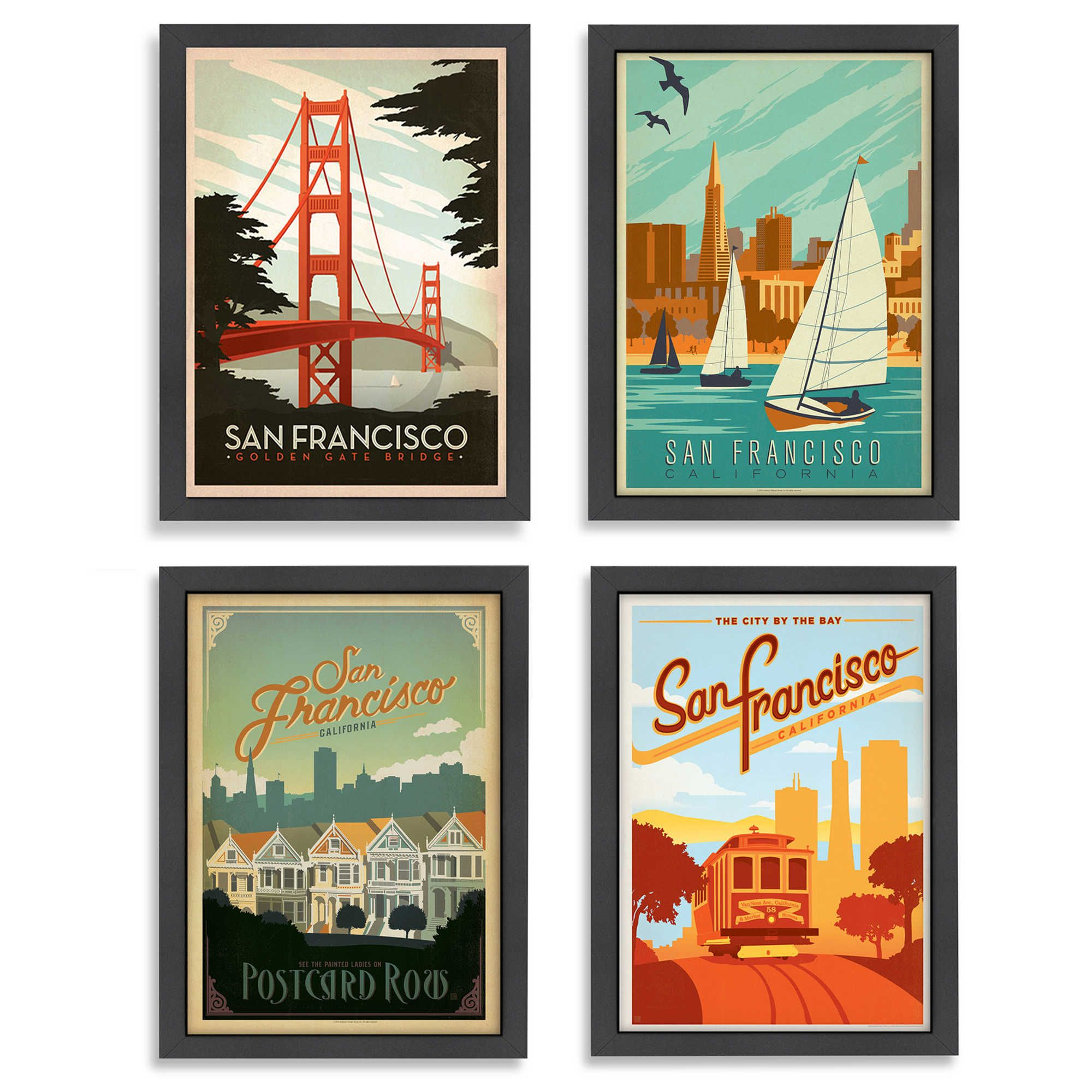 Americanflat San Francisco Framed Wall Art
