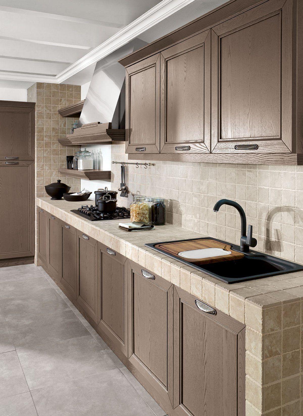 Resultado de imagen de cucina in muratura piastrelle | Cocinas ...