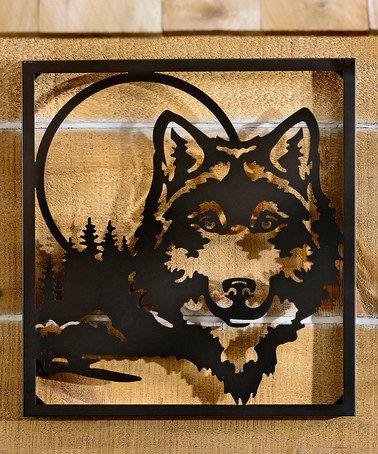 Black Metal Wolf Wall Art #zulily #zulilyfinds