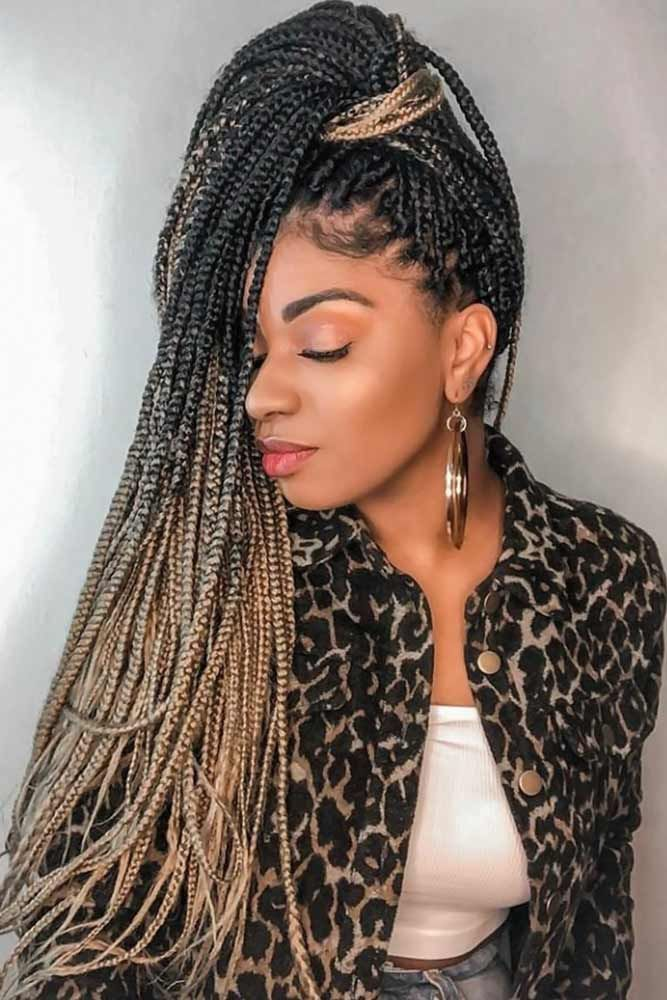 High Pony Box Braids #braids #boxbraids Box Braids are timeless and elegant. We have put ...