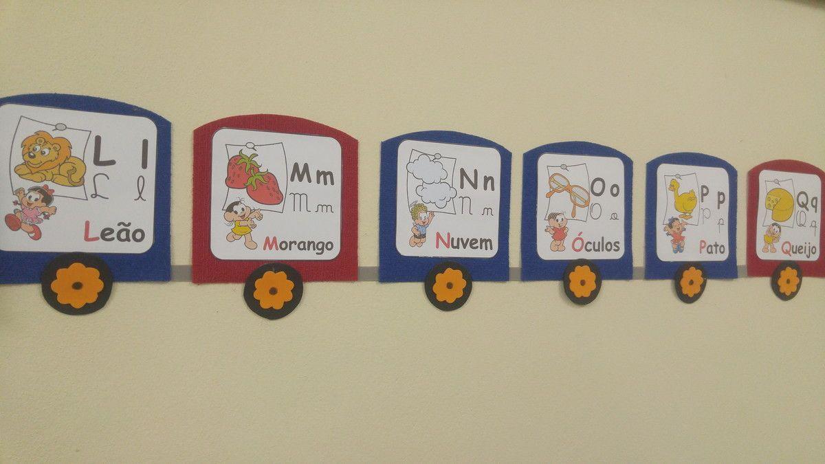 Alfabeto Em Eva Trenzinho Com Os 4 Tipos De Letras Com