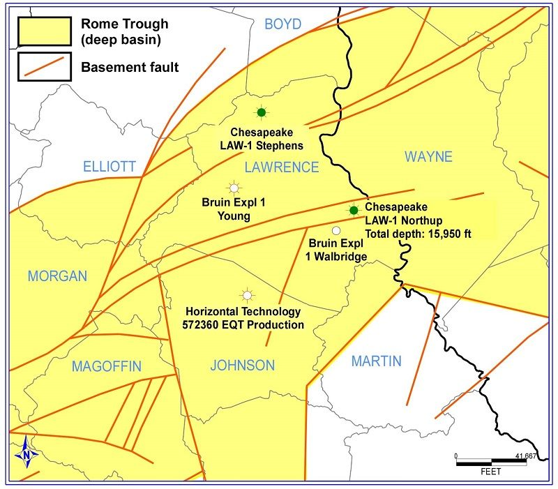 New State Drilling Depth Record Reached In The Rome Trough Of Lawrence County Kentucky Geological S Geology University