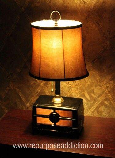Old Radio Shell Turned Light Let It Shine Old Radios Radio Vintage Radio