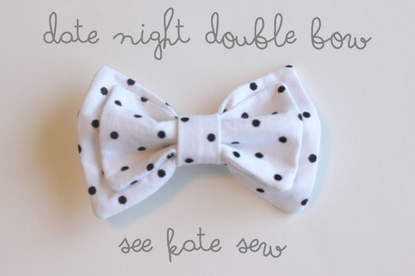 date night double bow clip - see kate sew