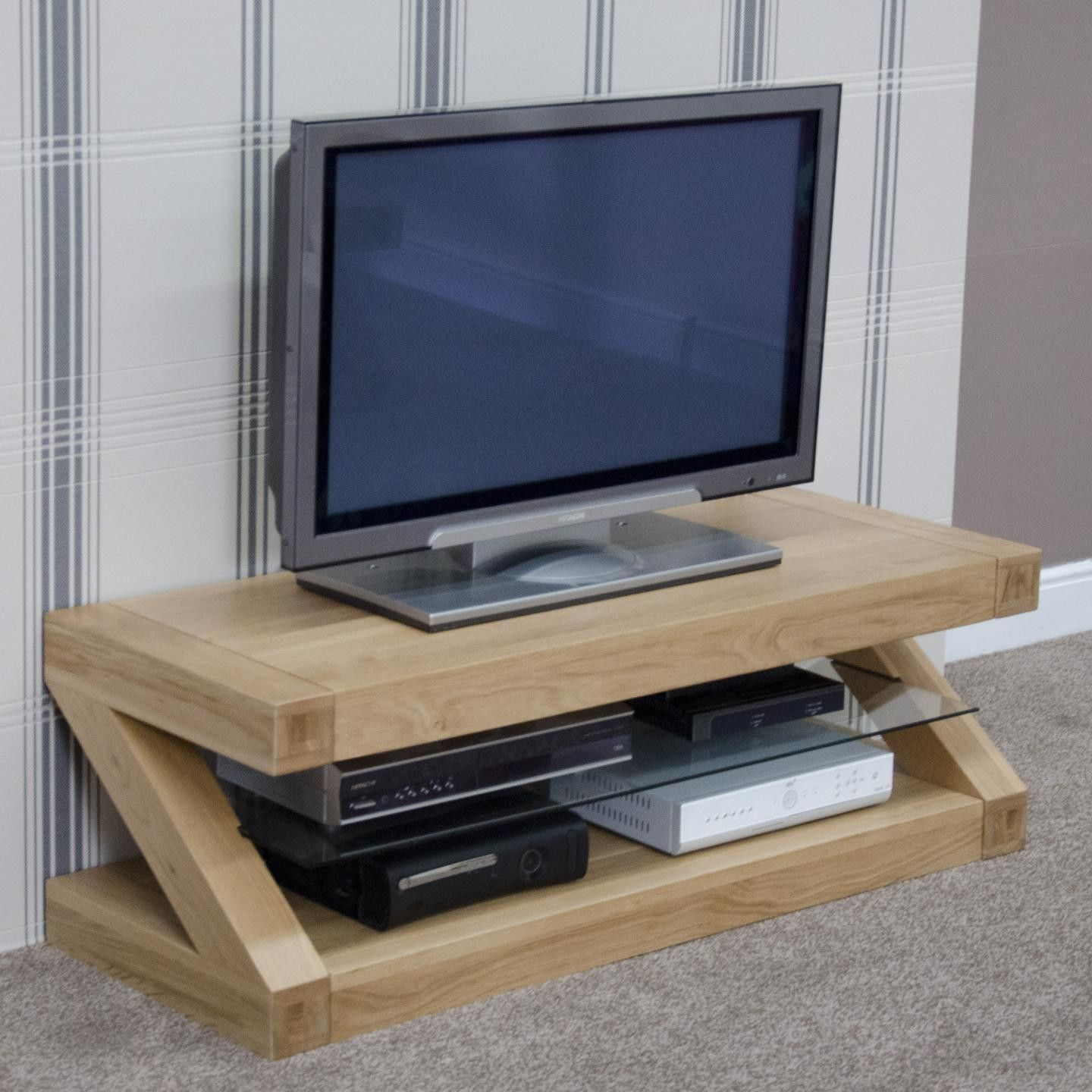 Zebra Oak Medium Tv Unit Rama Pinterest Tv Unit And Tv Stands # Table Tv Plasma Moderne En Verre