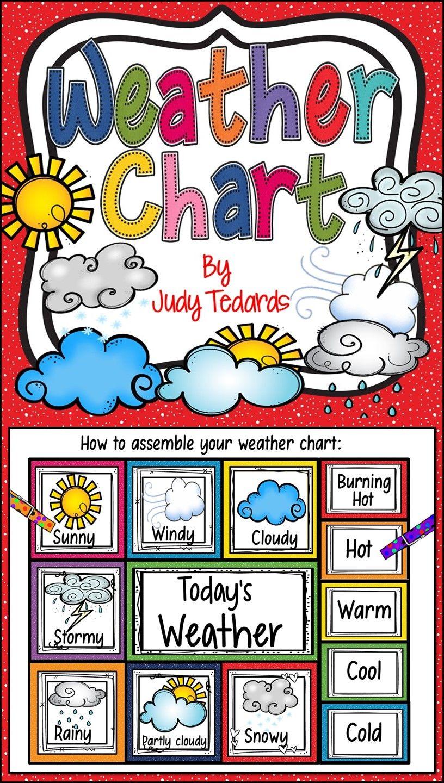 Weather Chart Weather Chart Daily Weather Calendar Activities