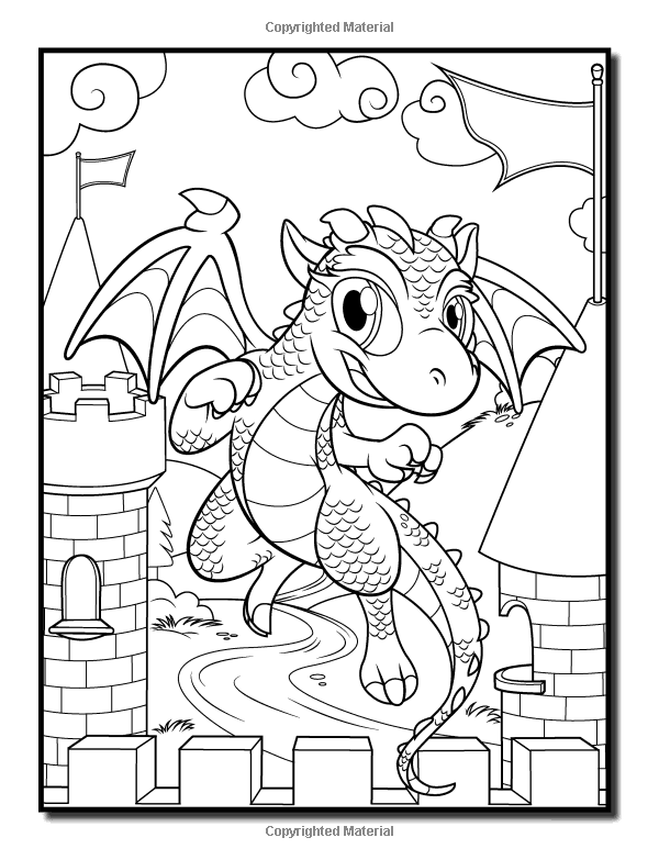 Amazon.com: Baby Dragons: An Adult Coloring Book with Fun, Easy, and ...