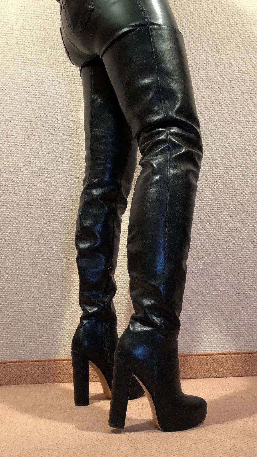 e90c40a270c86a Gr.45 TOP! Exclusive Sexy Women s Shoes Over the Knee Boots Stiletto ...