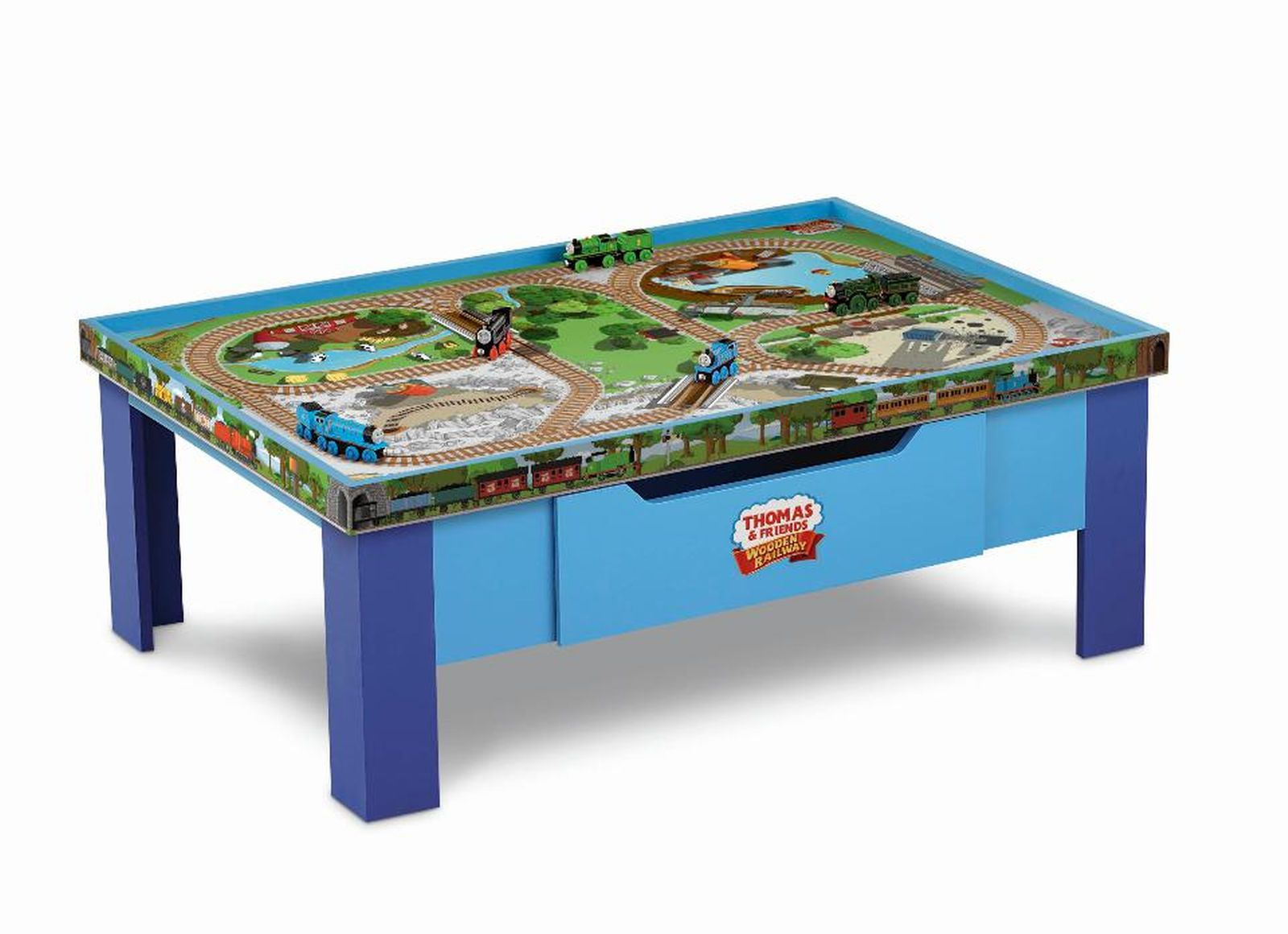 Help your kids develop their fine motor skills with a train table from Toys\  R\ Us. A kids\u0027 train table set is a great addition to a bedroom or playroom.  sc 1 st  Pinterest & Thomas \u0026 Friends Wooden Railway Grow With Me Play Table | Toys For ...