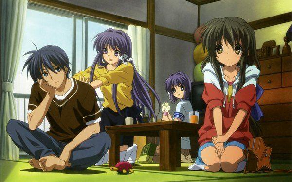 Anime Wallpaper Clannad Key Studio Fujibayashi Kyou Ibuki Fuuko