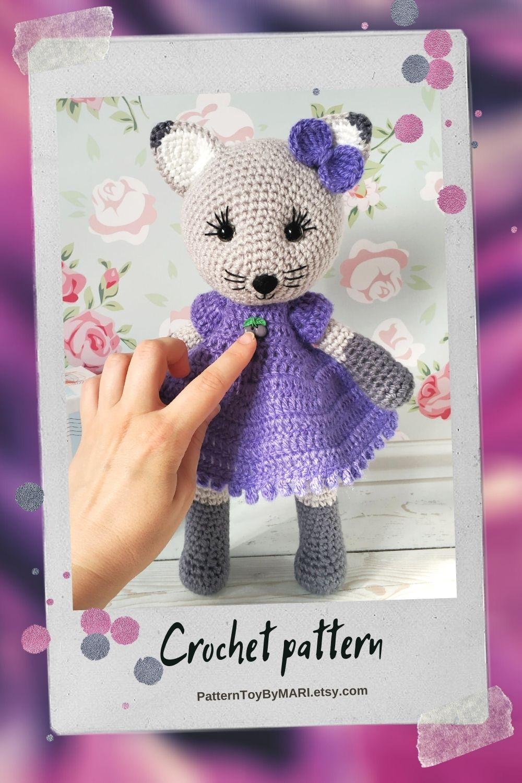 Crochet cat - easy detailed pattern