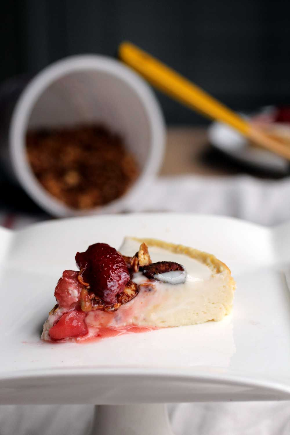 Healthy Cheesecake using cottage cheese and yogurt // The ...
