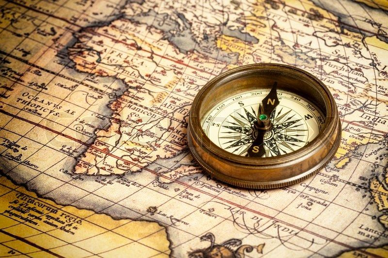 Old Maps And Old Compasses Love It Vintage Compass Ancient Maps Vintage Compass Tattoo