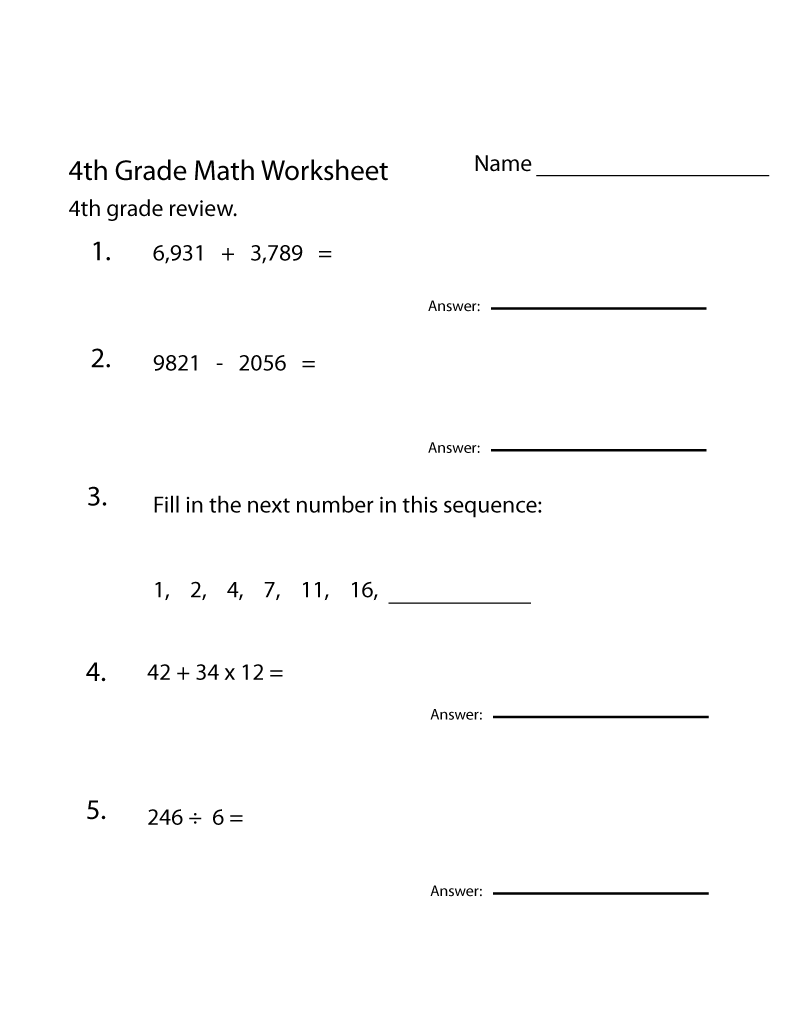 4th Grade Math Worksheets Best Coloring Pages For Kids 4th Grade Math Worksheets Math Worksheets 4th Grade Math