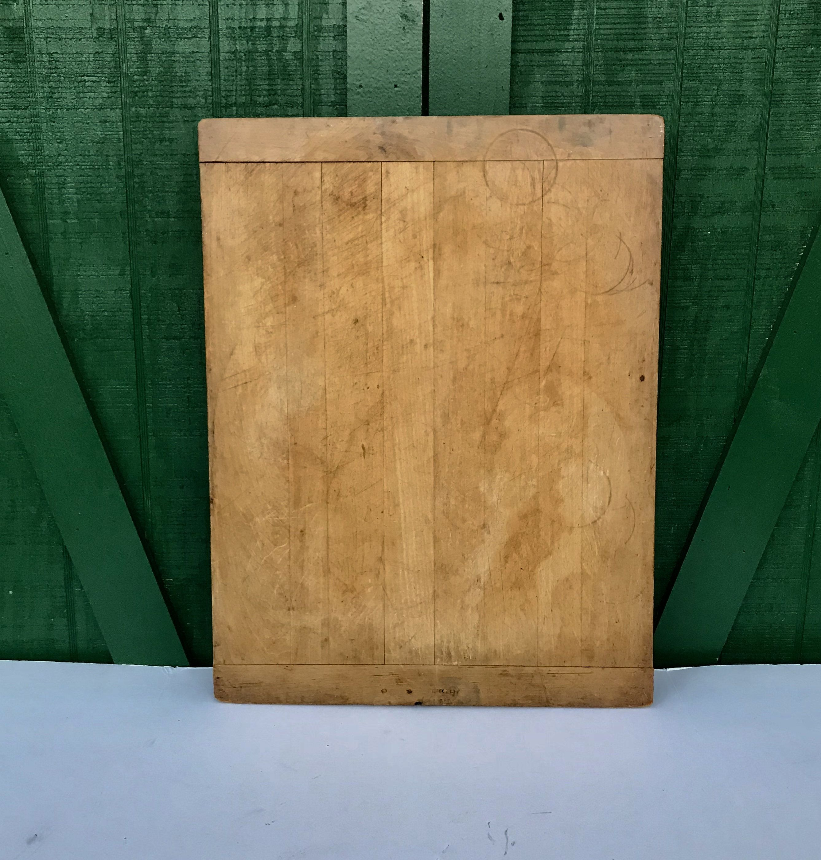 Vintage Cutting Board Pastry Board Large Maple Board Kitchen