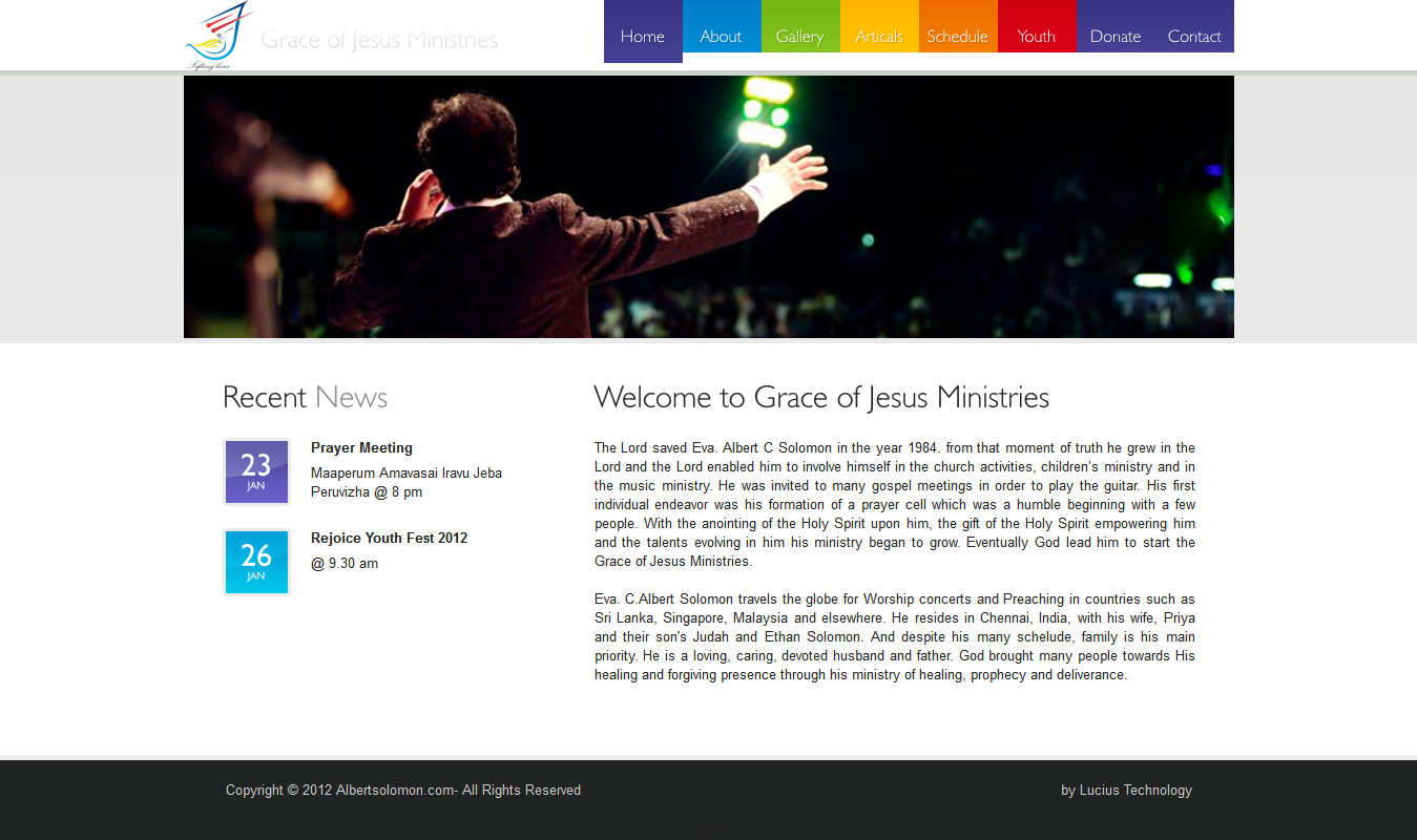 static website for ministry