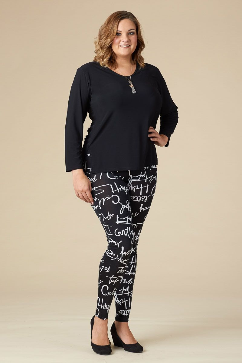 481a81a3a08 Hot Print alert!! Spruce up any look with this script print in our Instant  Favorite Legging. Shop now!