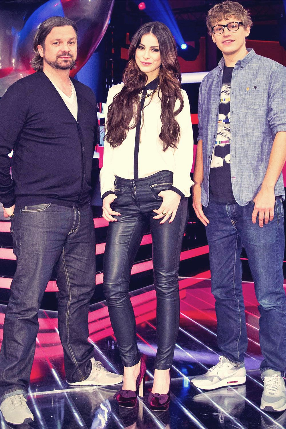 Lena Meyer Landrut At The Voice Kids In Berlin Lena The Voice Black Leather Pants