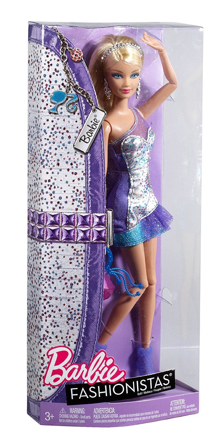 Barbie Pink /& Silver Fashionistas Evening Dress with Sandals /& A Clutch Bag