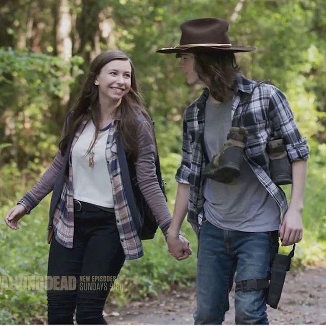 Carl And Enid Chandler Riggs The Walking Dead Walking Dead