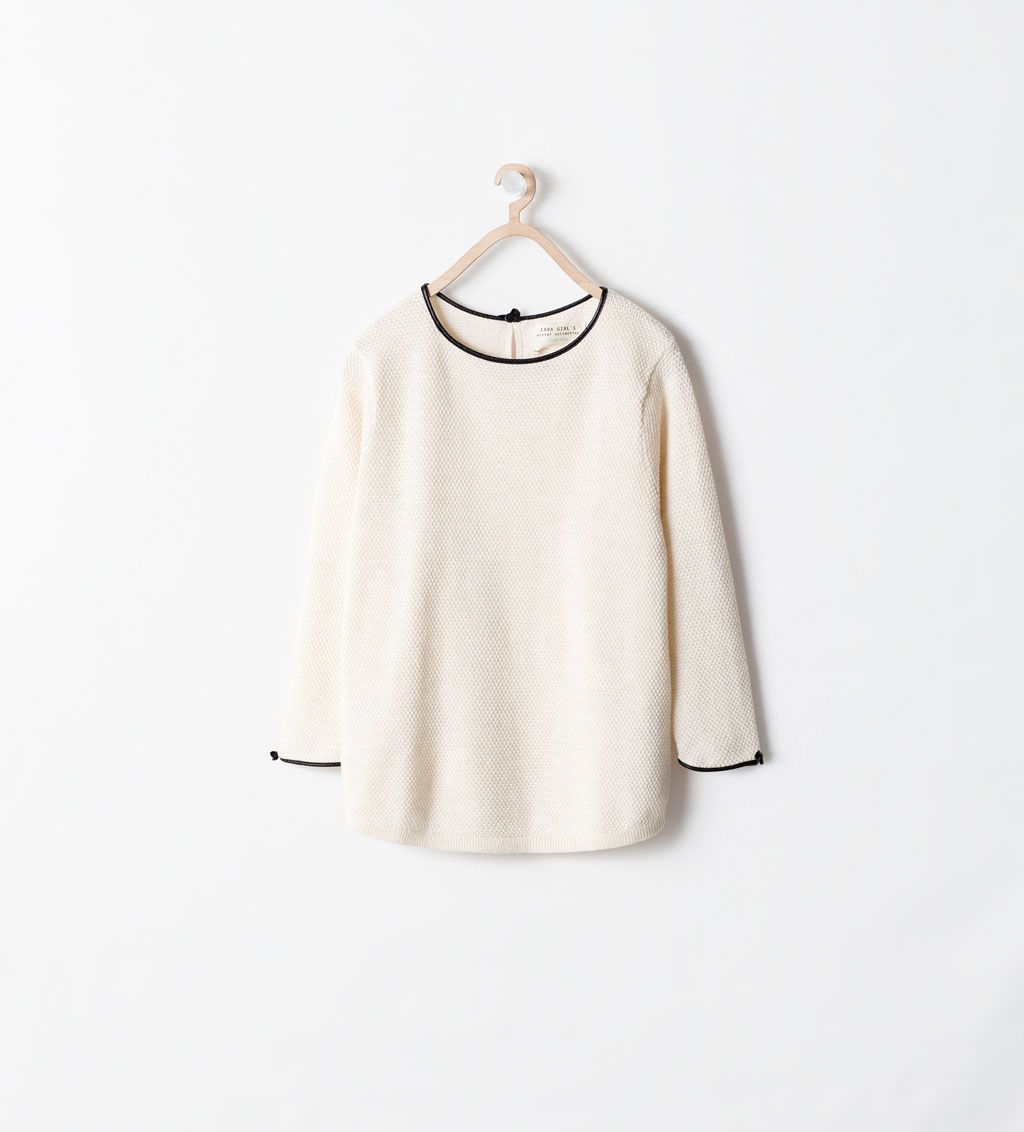 ZARA - KIDS - SWEATER WITH NECK AND SLEEVE TRIMMINGS