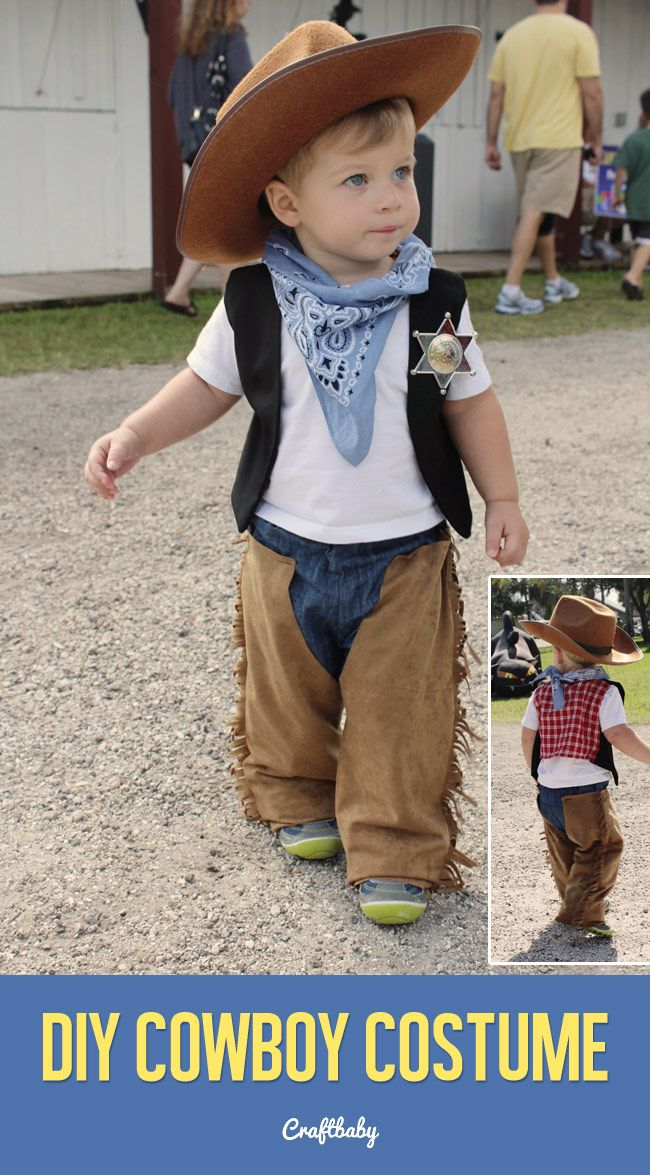 Diy cowboy halloween costume for a kid baby toddler or for 9 year old boy halloween costume ideas