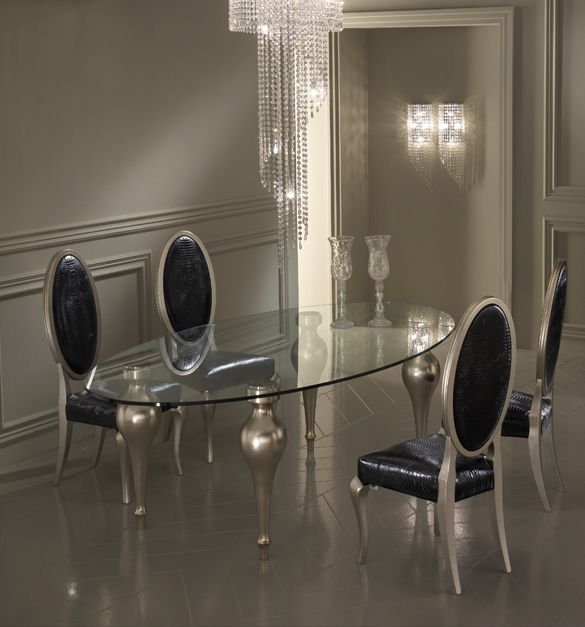 Black, Silver, Dining Room