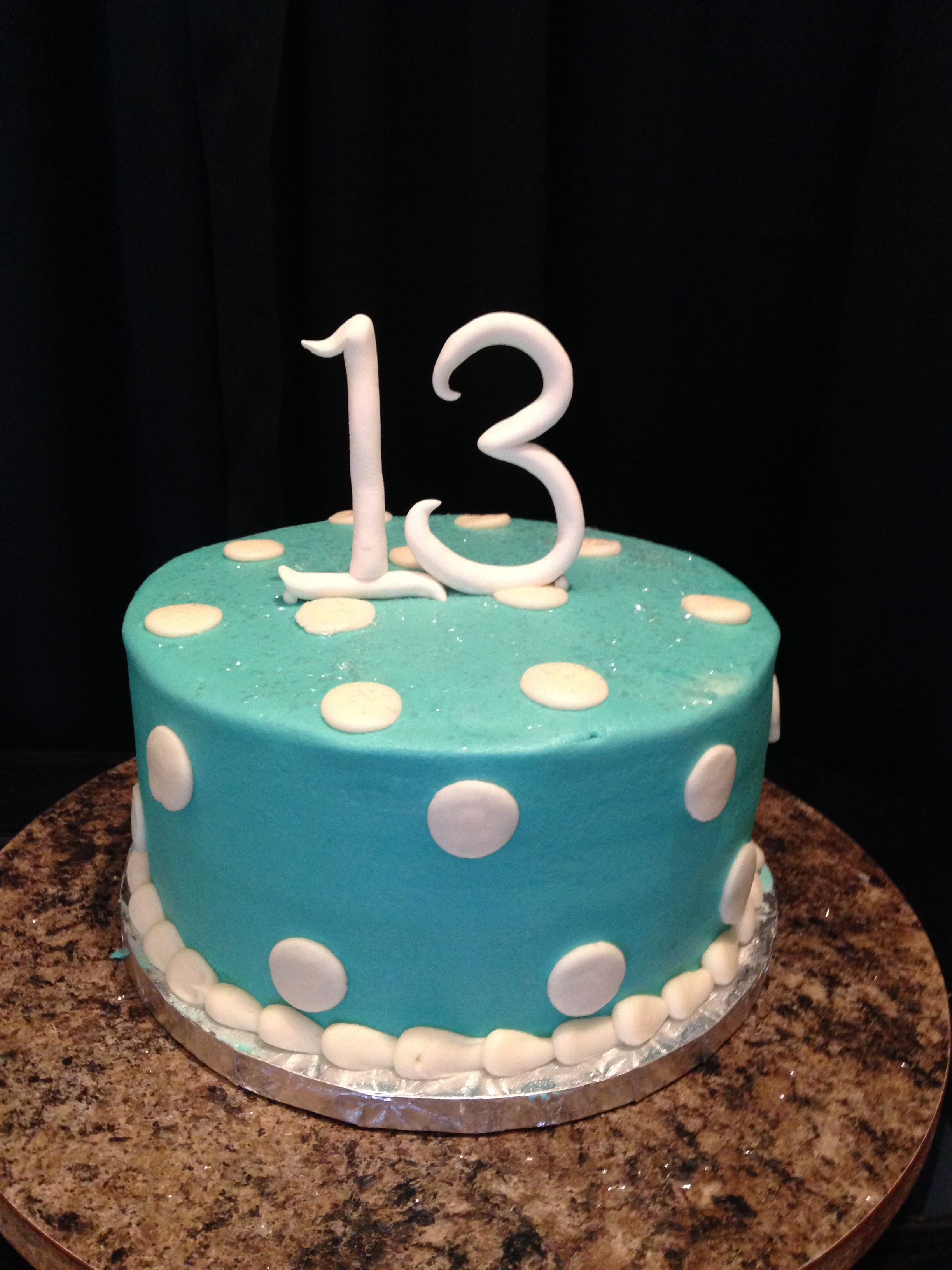 Simple Yet Stylish 13th Birthday Cake Decorated With Fondant