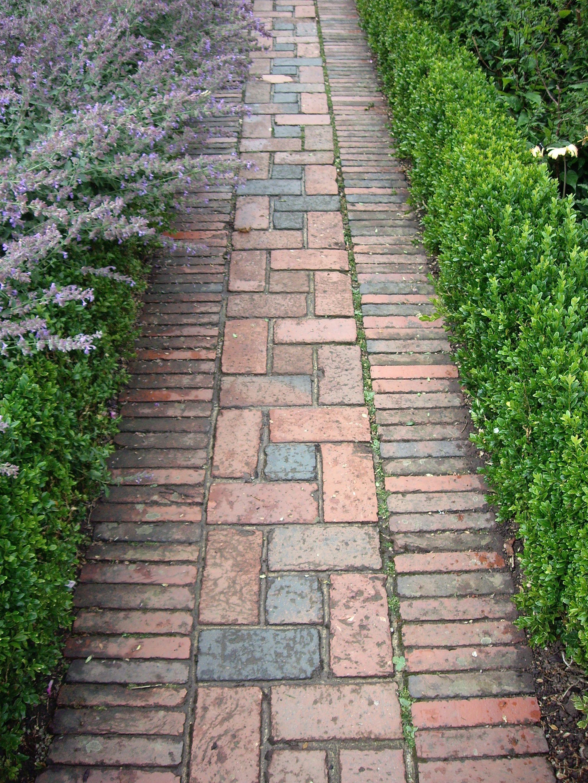 Brick path at Sissinghurst Pathway landscaping, Brick garden