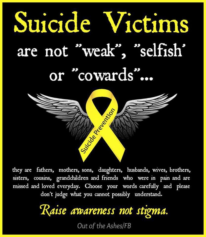 Fighting stigma against suicide victims Quotes