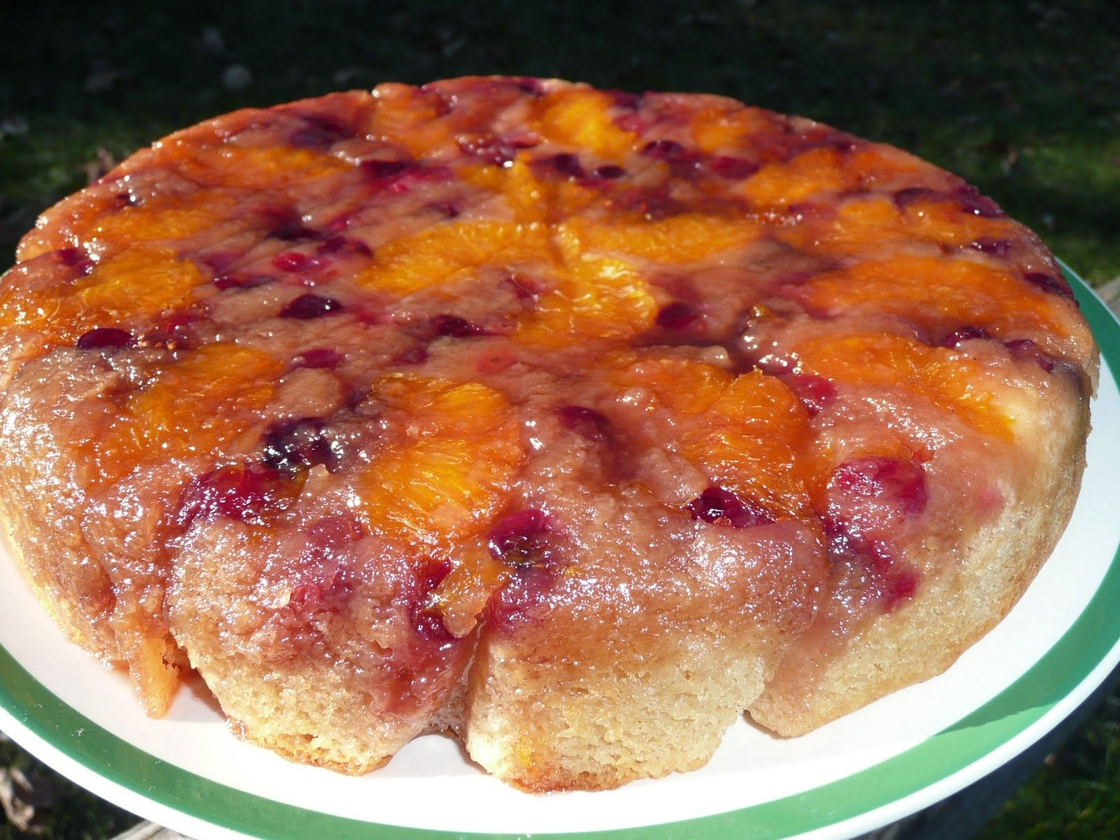 cranberry orange upside down cake uses a dutch oven also pinned to
