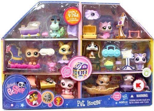 Littlest Pet Shop Exclusive Playset Pet House Includes 9 Pets