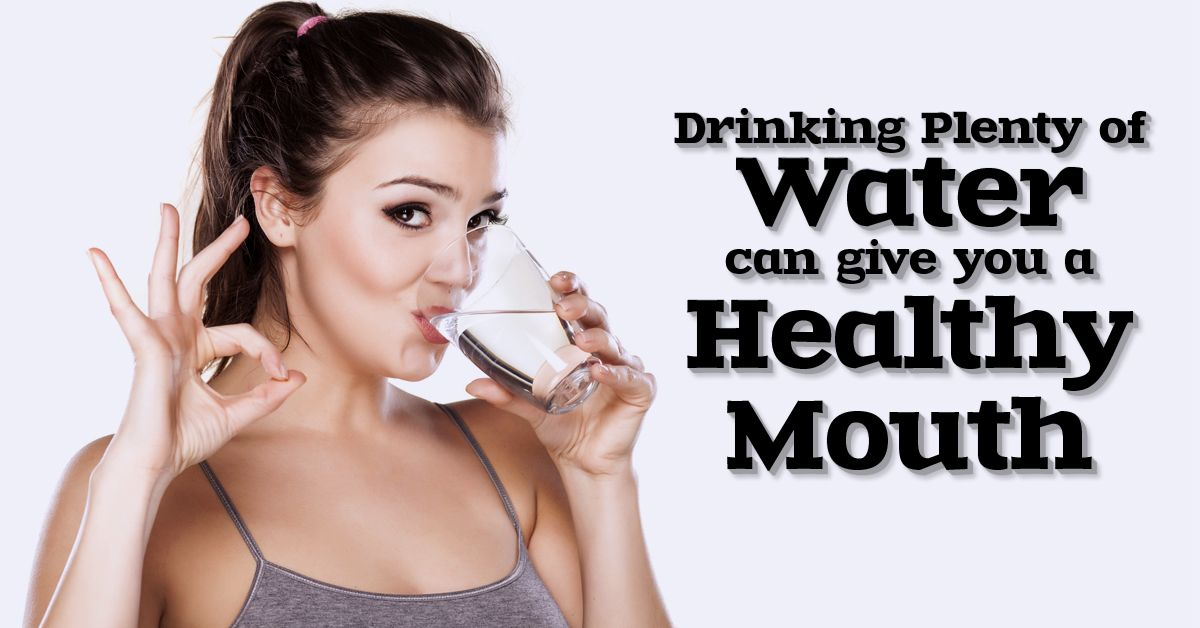Drinking plenty of water is good for your health and great