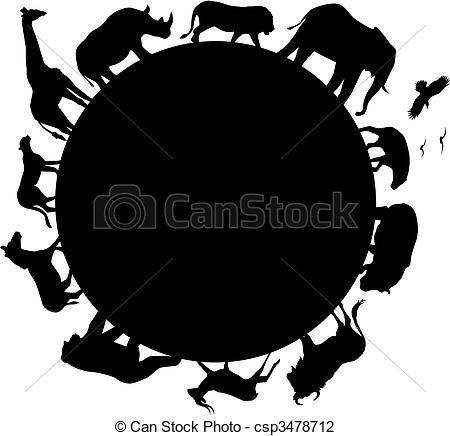 animal africa silhouette csp3478712