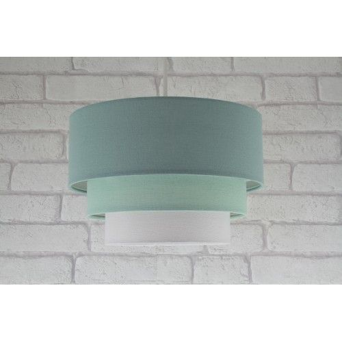 11 3 tier cotton fabric ceiling lampshade pendant light shade 11 3 tier cotton fabric ceiling lampshade pendant light shade duck egg blue aloadofball Image collections