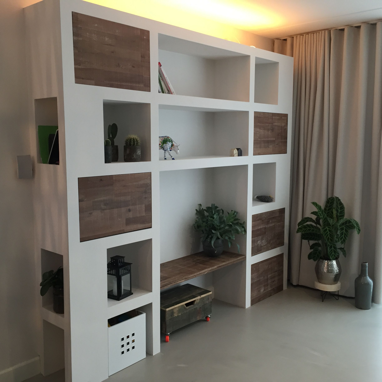 My Version Of Ytong Block Wall Cabinet Moodboard Woonkamer  # Kallax Separateur Piece