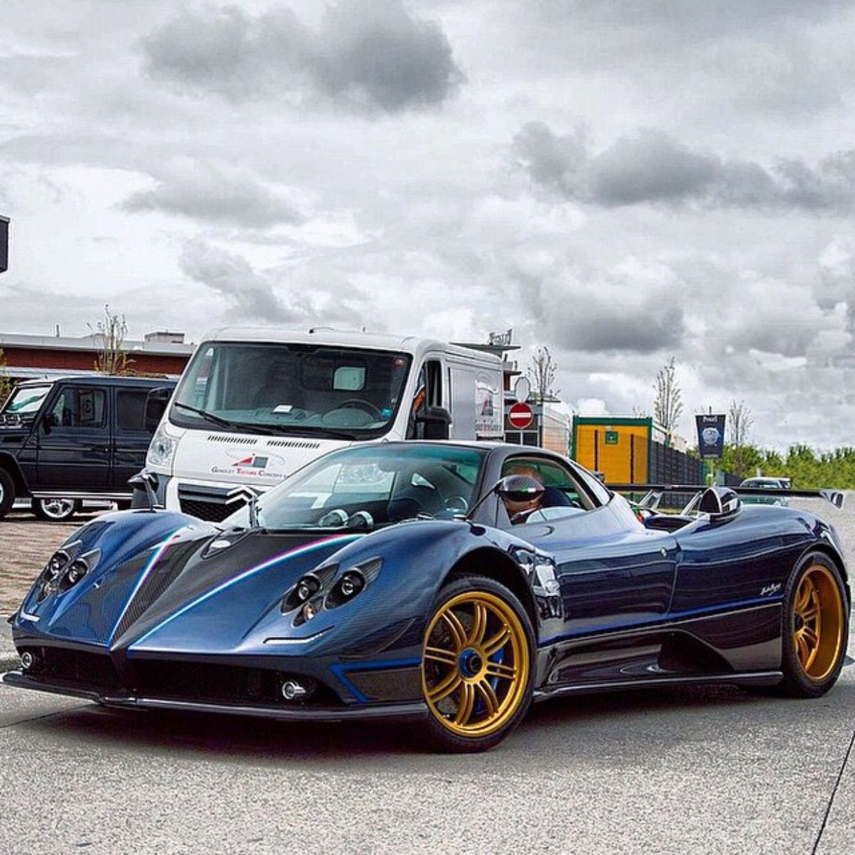 Pagani zonda tricolore painted in dark blue w italian flag racing pagani zonda tricolore painted in dark blue w italian flag racing stripes photo taken by biocorpaavc Images