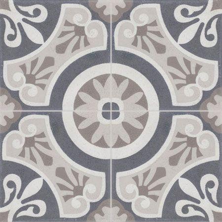Maison Des Amis Bathroom Floor Metro Tiles On Shower And By Mirror Sink Unit Painted Grey Violet Carreaux De Ciment Salle De Bain Carreau Carreaux Ciment
