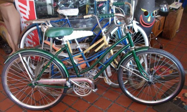 Green Galaxy Flyer Girls Bicycle 65 Wheels For Sale Green