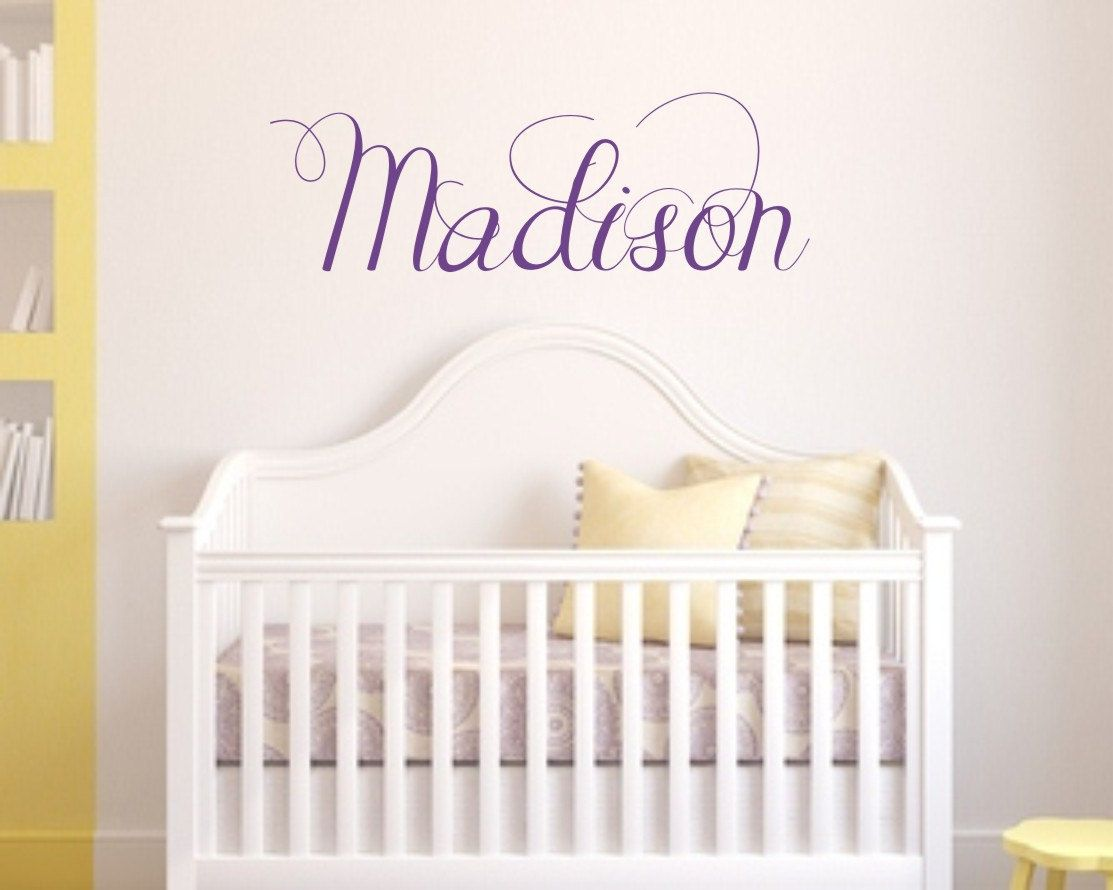Nursery Custom Name Vinyl Wall Decal Childrens Vinyl Wall Art - Custom vinyl wall decals nursery