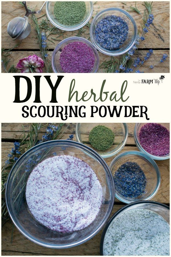 DIY Herbal Scouring Powders for a Naturally Clean