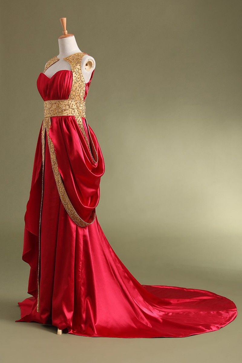 Aline stretch satin empire sweetheart long evening dressesprom