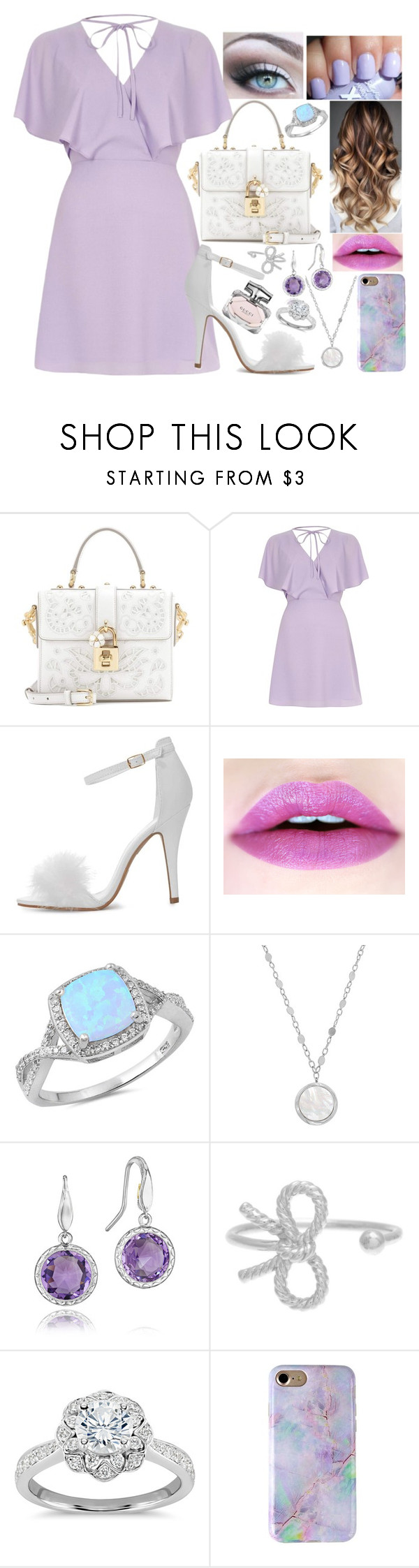 """#101"" by moon-crystal-wolff ❤ liked on Polyvore featuring Dolce&Gabbana, River Island, Honora, Tacori, Olivia Burton, Zac Posen and Gucci"