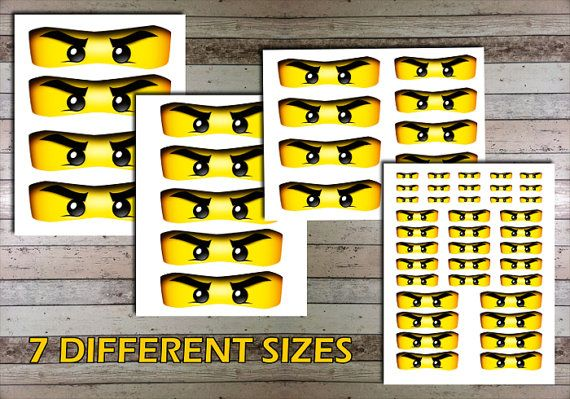 graphic about Printable Ninjago Eyes identified as Ninjago Eyes Mask - Electronic PDF Document - Printable Eyes for