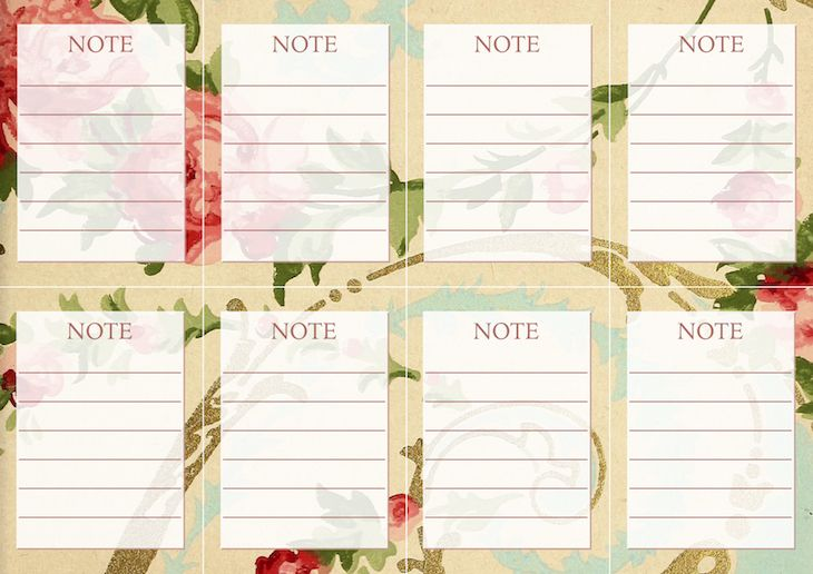 Wings of Whimsy: Vintage Wallpaper NOTES No 4 #ephemera #vintage #freebie #printable #wallpaper #note