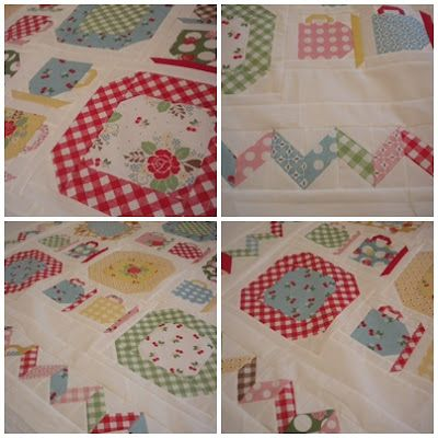 vintage dishes pattern by Lori Holt