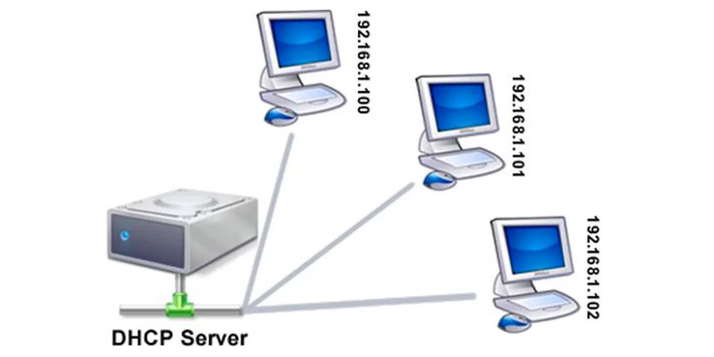 DHCP provides dynamic IP address assignment from a pool of
