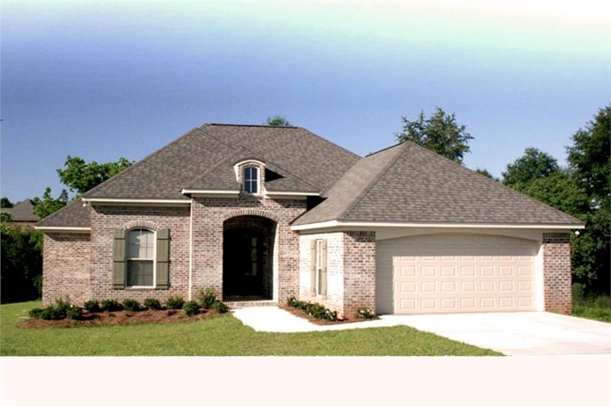 House Plan Bdrm Acadian Home Theplancollection Plans French